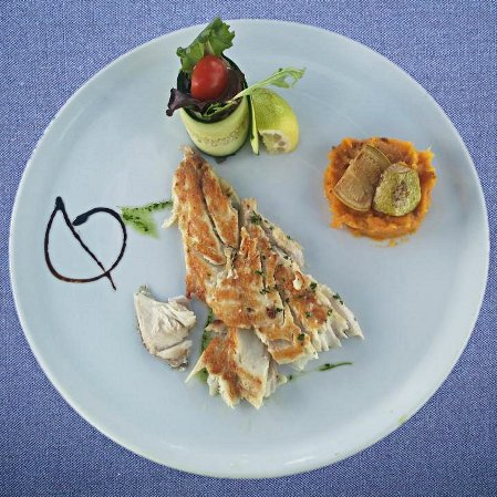 Grilled fish filet